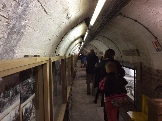 Musee Somme 1916: The tunnels go right under the town above