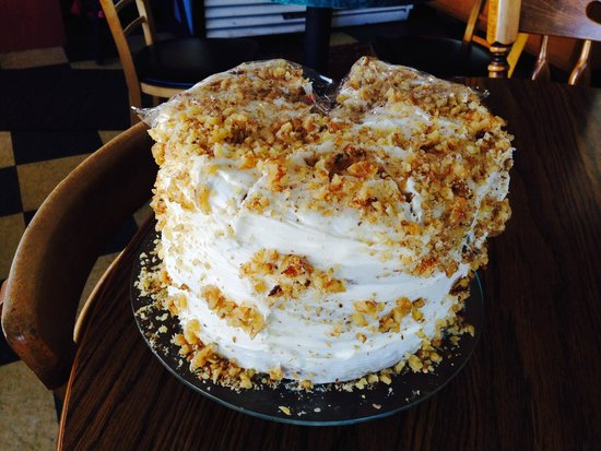 Parkside Coffee House: The 3 layer Carrot Cake, $4.25 and enough to share