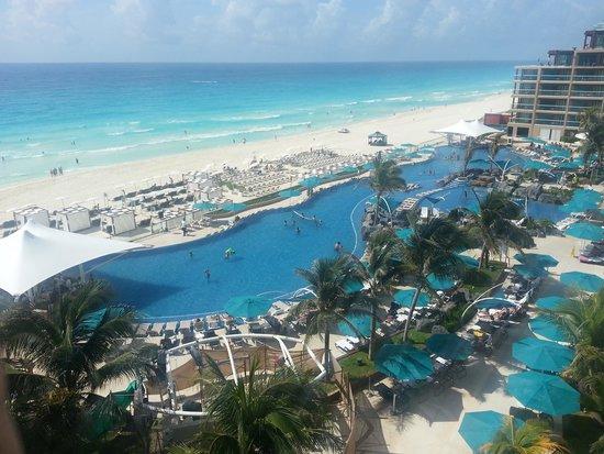 Hard Rock Hotel Cancun : Vista espectacular desde habitación en Hard Rock Cancun