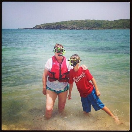 Abe's Snorkeling and BioBay Tours: Grandma & grandson snorkeling together (1st time for her)