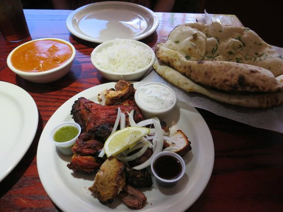 Teji's Indian Restaurant & Grocery: grilled tandoor meats and garlic nan