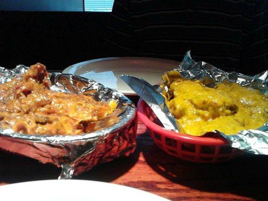Teji's Indian Restaurant & Grocery: bone in chicken wings, korma, and butter chicken