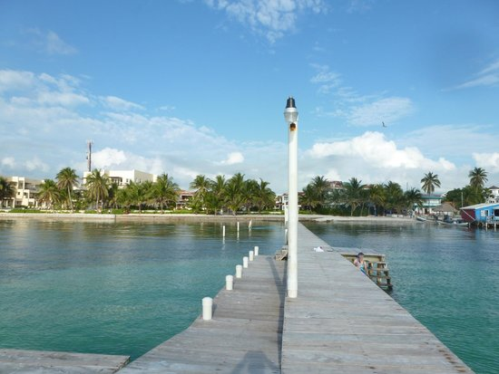 A view of Paradise Villas from the end of the pier out front.