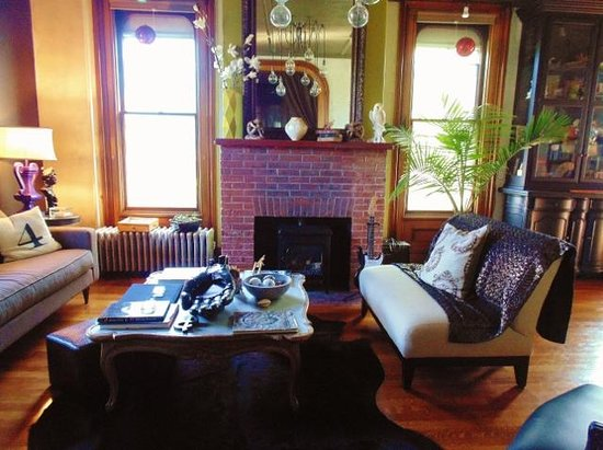 Made INN Vermont, an Urban-Chic Bed and Breakfast: A cozy living room where you can lounge