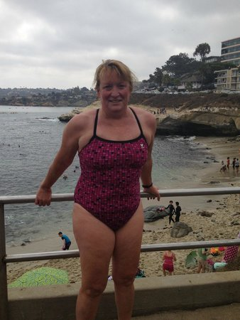 La Jolla Kayak : post swim smile
