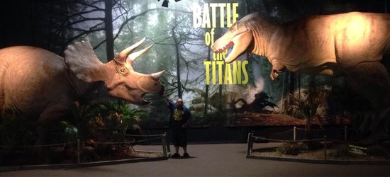 Battle of the Titans: Hubby with dinosaurs!