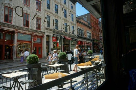 Chez Boulay Bistro Boreal : Window view