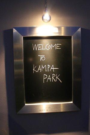 Kampa Park Restaurant : Boas vindas do restaurante