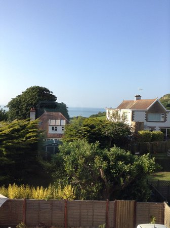 Marine Court Hotel: Looking over to south Wales