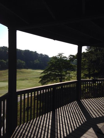 """Crowne Plaza  Resort Asheville : From the """"villa"""" in the morning. Great view but dated lodging."""