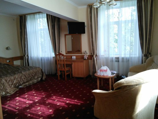 Altai Hotel: Главный вид при входе в номер