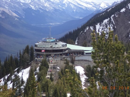 Banff Gondola: At the top of the hill