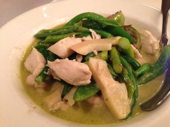 Amarin of Thailand: Chicken with green curry - one of our favorites