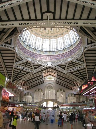 Central Market (Mercado Central) : The skylight dome