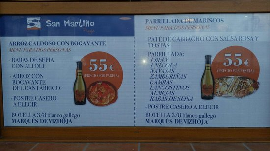 Foz, Spain: Sus menus
