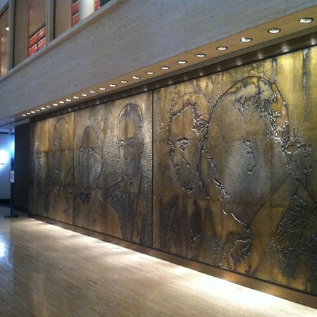 LBJ Presidential Library : Carved Mural Wall