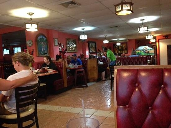 El Azteca: View inside one of the dining areas.