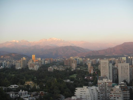 W Santiago: Views from the roof deck