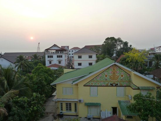 Lao Orchid Hotel: View from the balcony