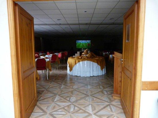 Villa Huinid Hotel Pioneros : comedor hotel bustillo