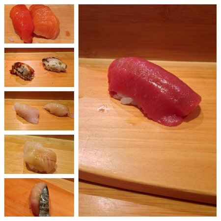 Sushi Yasuda: A good collage of our choices