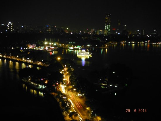 Pan Pacific Hanoi: Night view from our room