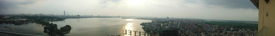 Pan Pacific Hanoi: View from summit lounge