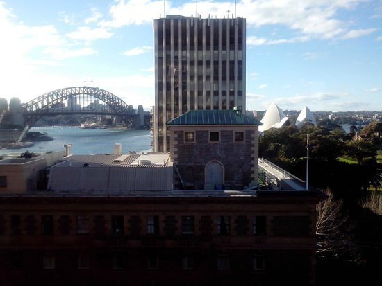 Sir Stamford at Circular Quay Hotel Sydney: Side view from Room 1011