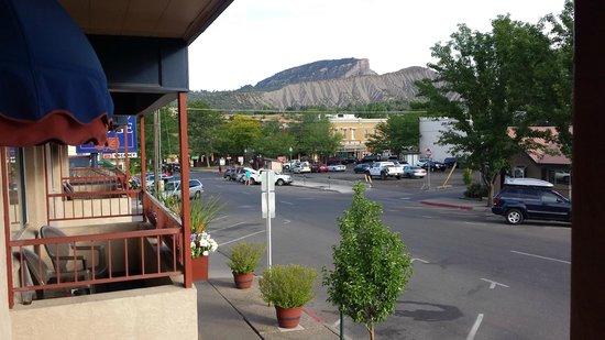 Durango Lodge: From the balcony towards the Train Station.