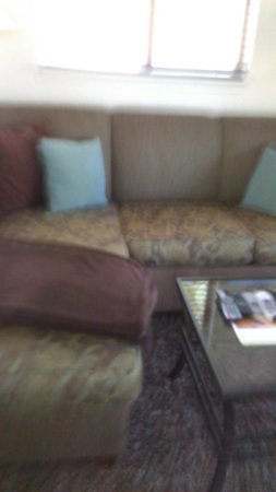 Sedona Pines Resort : Couch with lounge section.