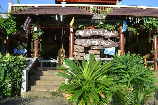 Khaolak Seafood Family House: front of restaurant