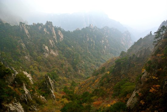 Mt. Huangshan (Yellow Mountain): valleys near the entrance