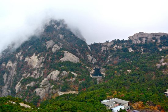 Mt. Huangshan (Yellow Mountain): loved this mountain, like patchwork!