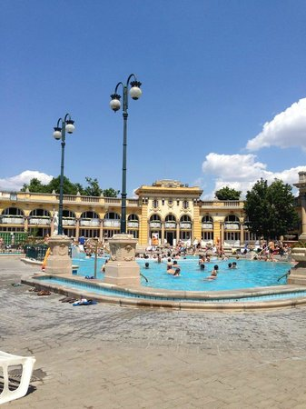 Széchenyi Baths and Pool : View of pools
