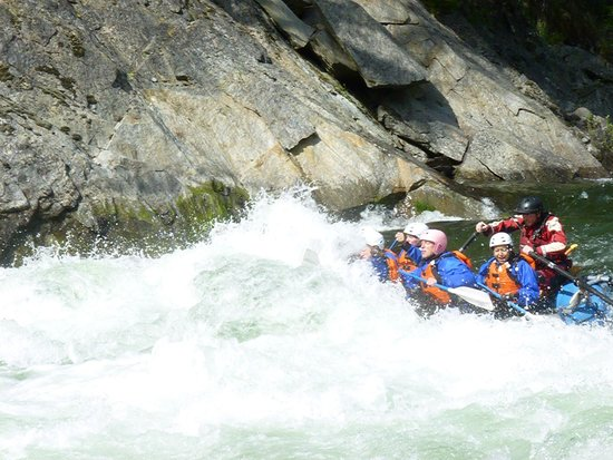 Nelson Whitewater Rafting Co.: class 4 rapids I think