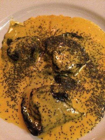Il Solferino: Black Squid Ink Fish Ravioli