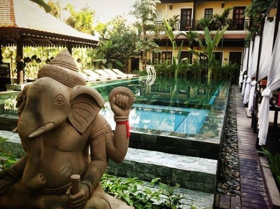 Residence Indochine D'angkor: Very swimming pool & views