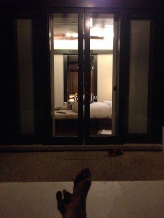 Gaya Island Resort : View from sunbath looking into room