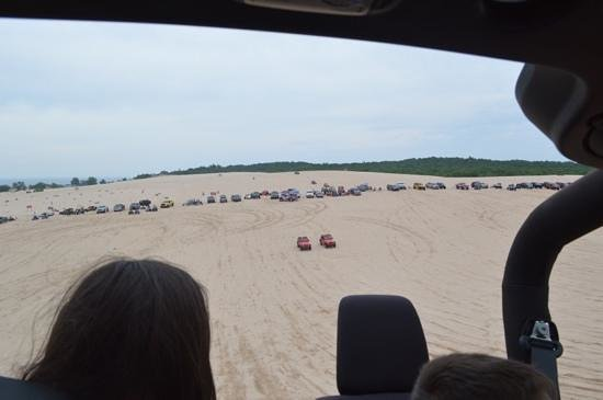 Parrot's Landing Jeep Rentals and Tours : on top of the dune