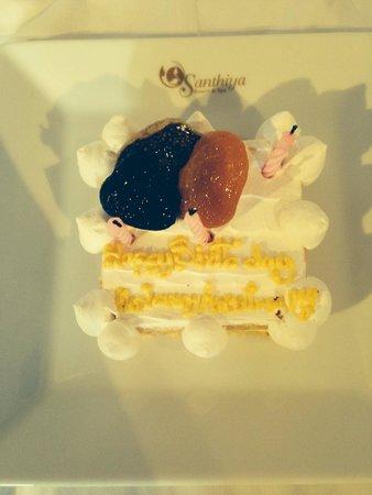 Santhiya Koh Phangan Resort & Spa : Our birthday treat from Rommel