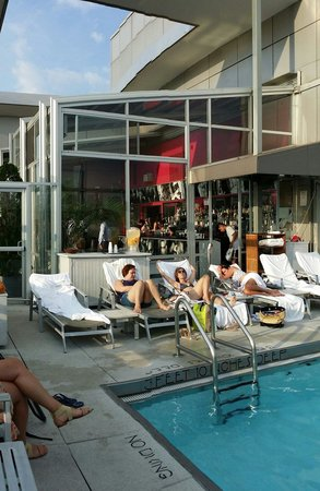 Gansevoort Meatpacking NYC: Pool bar