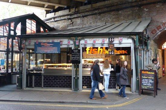 Borough Market - fish! - fish and chip take-away stop