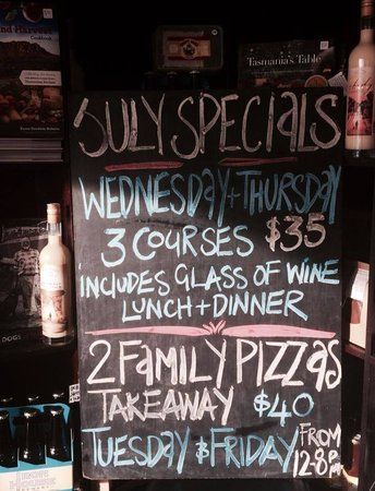 Pasini's Cafe : July 2014 Specials.....