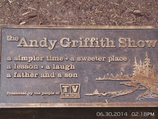 The Andy Griffith Museum : Plaque in front of statue