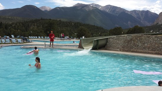 Mount Princeton Historic Bath House & Hot Springs: water slide