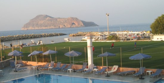 Villa Platanias: View from our room.