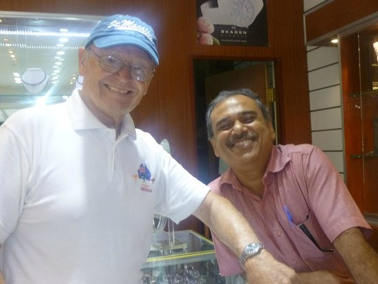 J.N. Jewelers: Stan with Ravi - showing off his new watch
