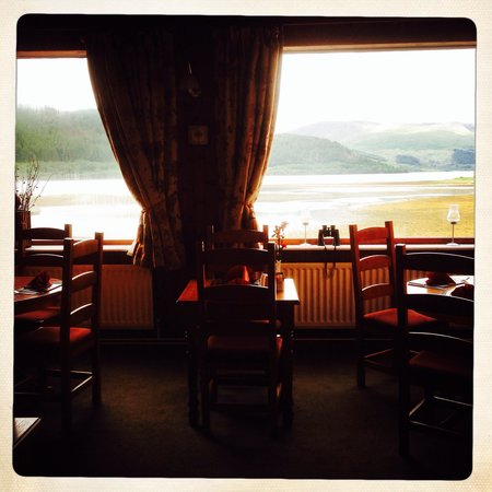 The Strontian Hotel: View from the dining room