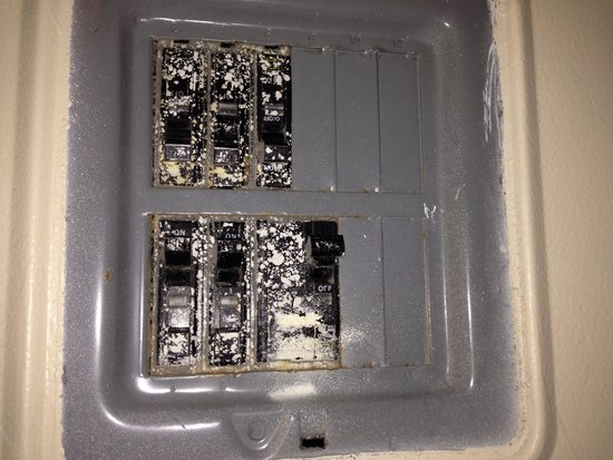 Pointe Hilton Squaw Peak Resort: Switches covered in gross yuck
