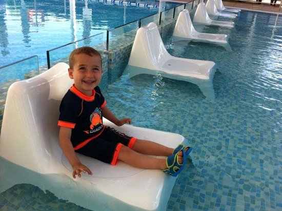 Dan Carmel Haifa: ALon in kids' swimming pool - he loved it !